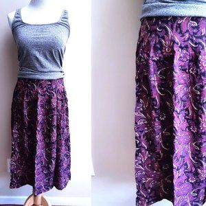 3 for $20 Vintage Purple Paisley Skirt Floral